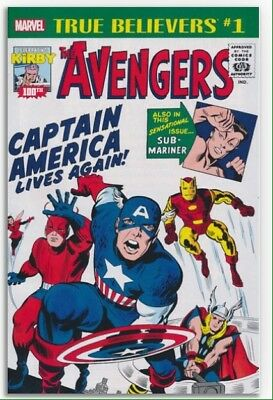 True Believers: Kirby 100th Captain America Lives Again! #1 Brand New