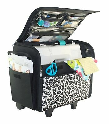 Everything Mary Cheetah Rolling Sewing Machine Case