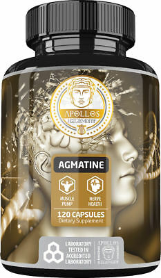 Apollo's Agmatine Sulfate 120 Capsules Fast And Free Shipping