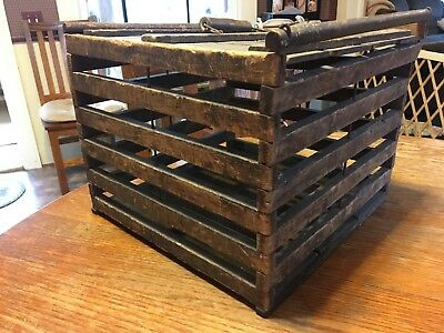 Antique Wooden Egg Crate