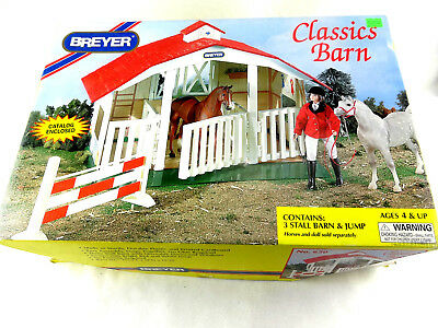 BREYER Classics Barn #650 Retired Brand New Vintage No Glue/Painting Required