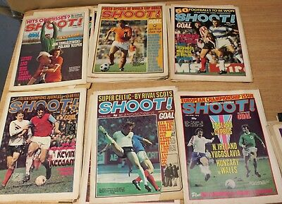 25+ Copies of Shoot Football Magazine from 1974 & 1975 plus 30+ oddments.