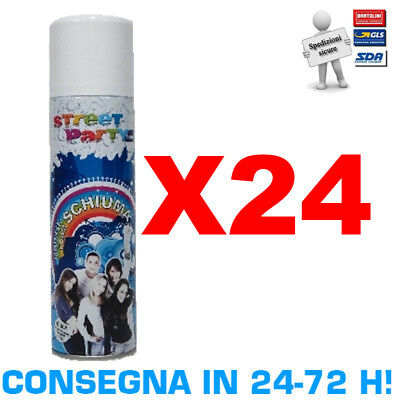 Solchim Promo Pack 24 Bombolette da 250 ml Schiuma Spray Street Party Carnevale