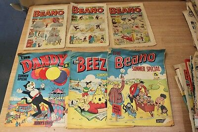 25+ Copies Beano, Dandy & Similar Comics, most  from the 1970's, plus oddments