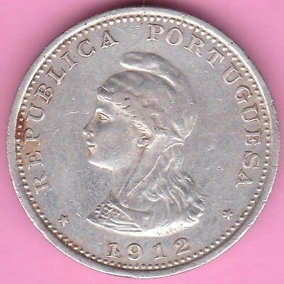 Portuguese India-Goa-1912-Queen-Uma Rupia(Rupee)-Rarest Beautiful Silver Coin-61