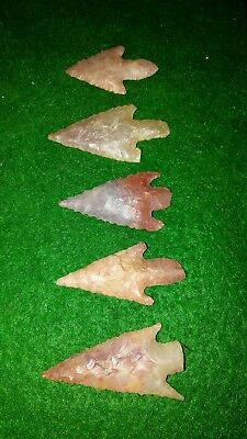 Authentic neolithic Arrowheads lot b24 high quality