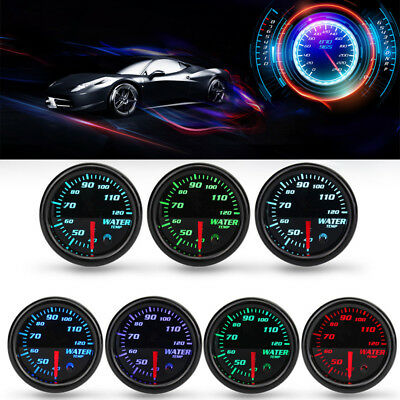 "Universal 2"" 52mm Water Temperature Gauge Digital 7-color LED Display Car Meter"