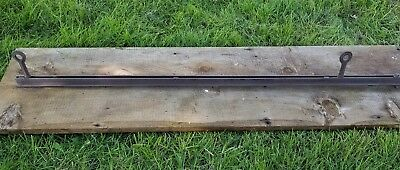 """NEY Double Angle 2"""" Hay Trolley Carrier Track Rail 4 Foot 4' Section Jamesway .."""