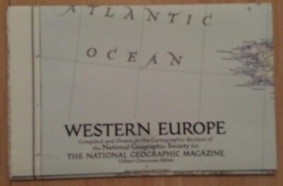 National Geographic Map of Western Europe (December 1950)