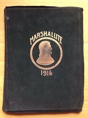 1916 John Marshall High School Yearbook, The Marshallite, Richmond, Va