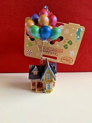 Nwt Disney Store Sketchbook 2018 Up House W/ Balloons Christmas Tree Ornament