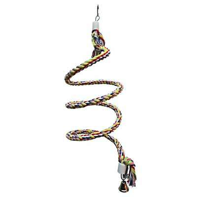 Adventure Bound Rainbow Spiral Rope Swing for Small Parrots & Parakeets, etc.