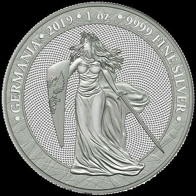 2019 GERMANIA 5 MARK 1 OZ .9999 SILVER FIRST RELEASE 25,000 mintage