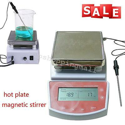 Medical Hot Plate Magnetic Stirrer Electric Heating Mixer Max Temp 400℃ Hospital