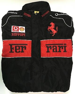 Vintage Ferrari Racing SZ 2XL Jacket Size Mens Black Vodaphone