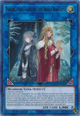Isolde, Two Tales of the Noble Knights SOFU ENSE1 Super Rare NM Yugioh