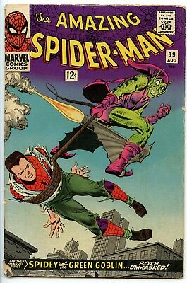Amazing Spider-Man 39 by John Romita and Stan Lee! Green Goblin revealed!