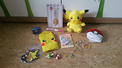 Pokemon Set, Pikachu Handytasche Button Plüsch Bleistift Pin Charm