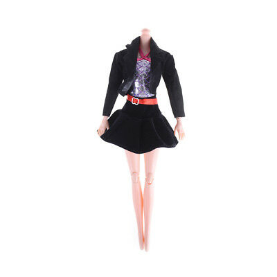 3pcs/set Fashion Handmade Party Office Clothes Dress For   Doll Gift Toy Uw