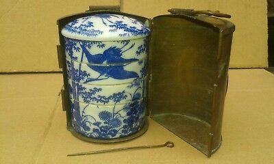Antique Japanees Porcilin spice bowls & Case