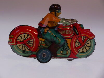 GSMOTO *GMAN* MARUSAN JAPAN 1950s, 9cm, FRICTION OK, NEUWERTIG/NEARLY NEW !