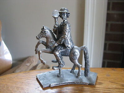 Emmett Kelly Jr. LE Silver Plated & Crystal Flambro THE CAROUSEL RIDER Figurine