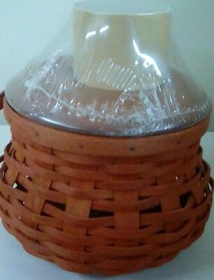 Longaberger Small Cinnamon Fall Gourd  Complete Basket Set - NEW
