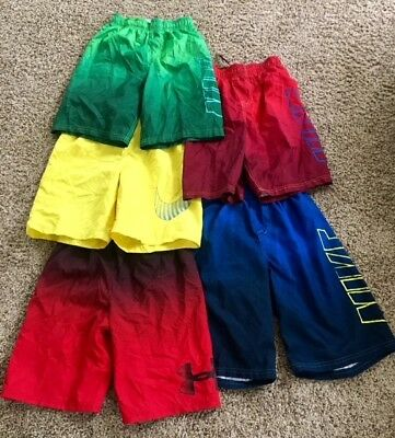 Large Lot of Nike Boys Swim Shorts Youth Medium