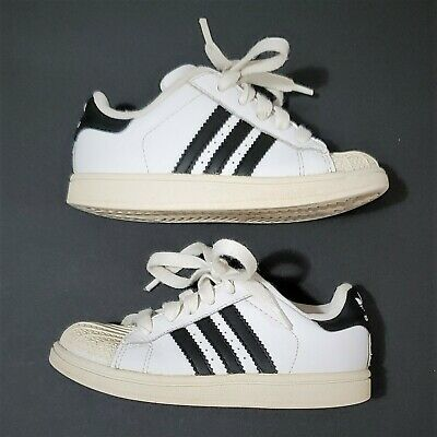 official photos 7a4c3 ed936 2008 ADIDAS SUPERSTAR 2 Baby Shell Toe Shoes White Black Stripes Size 10K