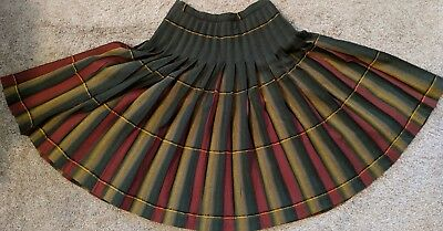 Vintage Pendleton Women's  Plaid Reversible Turnabout Wool Pleated Skirt 1940s?