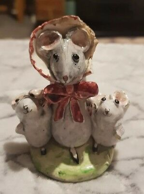Kitty Macbride Original Rare Mouse With Two Children Signed Not Beswick A/f