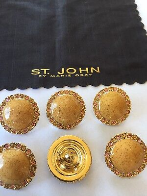 "JOHN Collection Replacement Button SJ Womens Sweater Black Gold .75/"" ST"