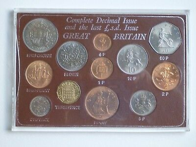 Great Britain Decimal Issue and the Last L.S.D. Issue 12 coin set