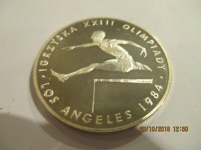 1984 Poland 200 Zlotych Silver Proof Coin,KM-150[L.A.Summer Olympics]