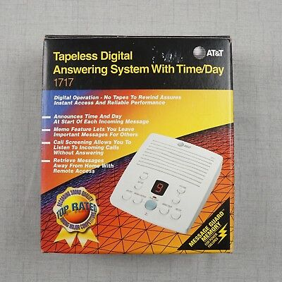 AT&T Tapeless Digital Answering System With Time/Day #1717