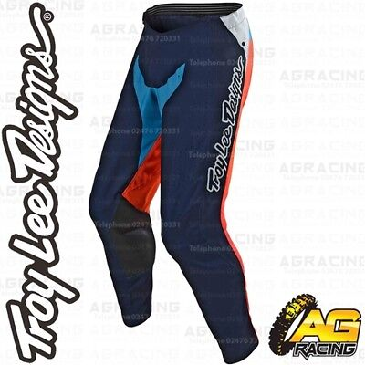 Troy Lee Designs 2019 SE Pro Neptune Orange Navy Race Pants Motocross Enduro ATV