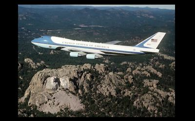 George H W Bush Mount Rushmore PHOTO Air Force One Fly Over, US President 1990