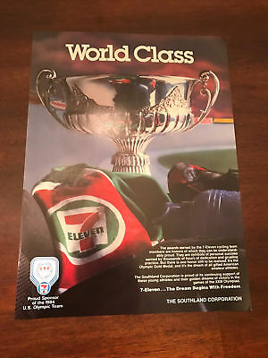 1984 VINTAGE 8X11 PRINT Ad FOR 7-11 ELEVEN SPONSOR OF US OLYMPICS CYCLING TEAM