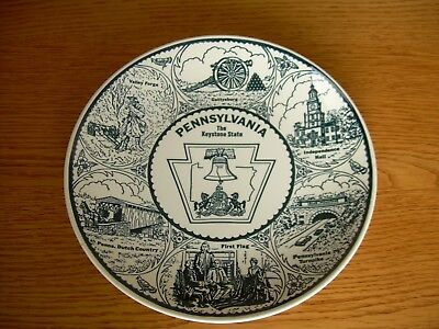 "Rare Vintage Howard Johnson PENNSYLVANIA ""THE KEYSTONE STATE"" Plate"
