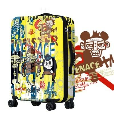 D728 Hip-Hop Style Universal Wheel ABS+PC Travel Suitcase Luggage 20 Inches W