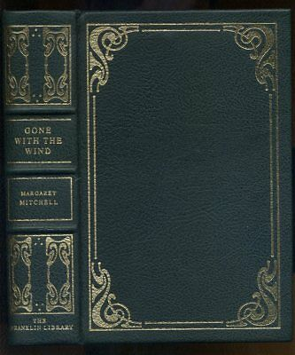 Gone With The Wind Margaret Mitchell Franklin Library 1978 Leather Silk Ribbon