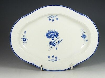 18TH CENTURY c 1780 CAUGHLEY SALOPIAN BLUE AND WHITE DISH WITH IMPRESSED MARK