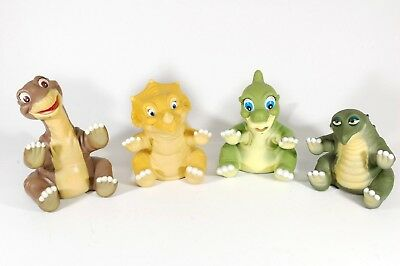 The Land Before Time Pizza Hut Toy Figurines Set of 4 hand puppets spike vintage