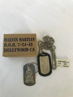 Marvin The Martian Pewter Dog Tag Necklace/Pendant in Original Box - 1993