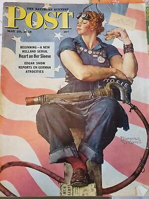 Norman Rockwell Rosie The Riveter Saturday Evening Post May 29 1943 101918DBE