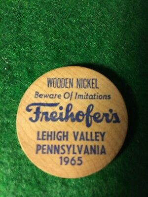 Vintage Advertising Wooden Nickles Freihofer's Bread Lehigh Valley Pa 1965
