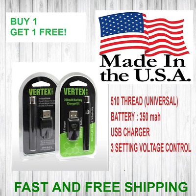 *ORIGINAL* USA SELLER Vape/Oil-Pen Battery USB Charger BUY 1 GET 1