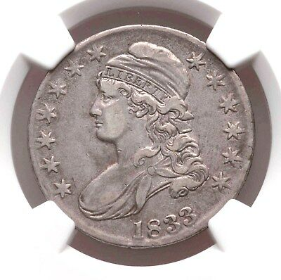 1833 NGC XF40 Capped Bust Silver Half Dollar Overton Nice Type Coin