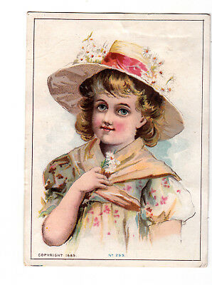 Banner Soap Powder Devine Mfg Newark Girl Bonnet Shawl Vict Card c1880s