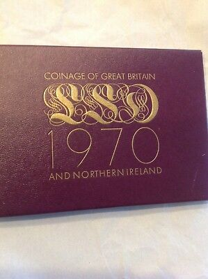 1970 Coinage Great Britain- Northern Ireland 8 Coin Proof Set Sixpence Halfpenny